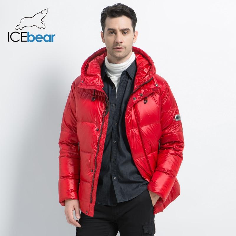 ICEbear 2019 nouveau hiver hommes doudoune élégant mâle vers le bas manteau épais chaud homme vêtements marque hommes vêtements MWD19867I