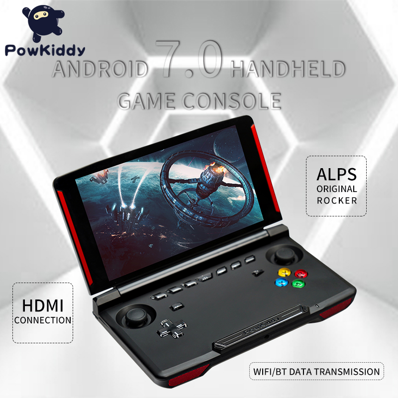 Powkiddy Game-Console Screen Andriod Video Handheld X18 Quad-Core 2g-Ram MTK 8163 1280--720 title=