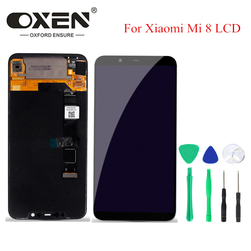OXEN 6.21inch OLED Screen for Xiaomi Mi 8 Display Digitizer Assembly  Mi8 LCD Touch Screen Replacement Free Tools-in Mobile Phone LCD Screens from Cellphones & Telecommunications