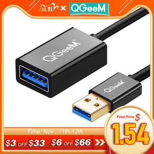 Image 1 - QGeeM USB Extension Cable Cord Super Speed USB 3.0 Cable Male to Female 1m 2m 3m Data Sync USB 2.0 Extender Cord Extension USB