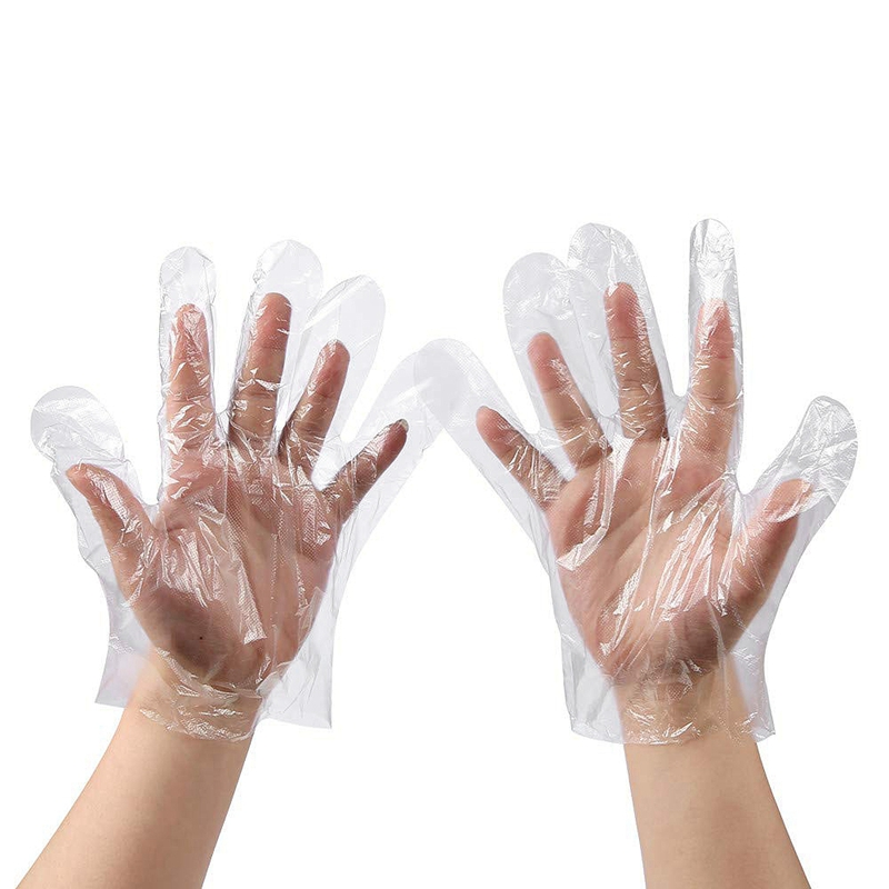 Disposable Clear Plastic Gloves - 500 Pieces Plastic Disposable Food Prep Gloves,Disposable Polyethylene Work Gloves for Cooking