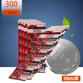 300Pcs For maxell CR2016 3V Lithium li-liom Battery DL2016 ECR2016 LM2016 BR2016 CR 2016 Button cell Coin Batteries watch toys