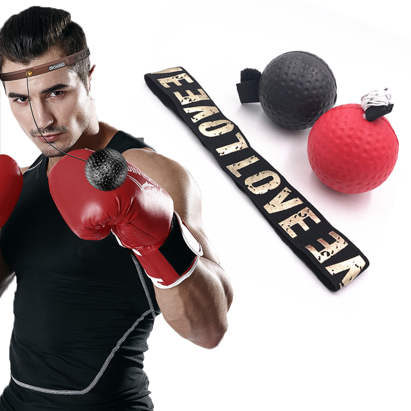 Boxing Speed Punch Ball Reflex MMA Sanda Boxer Raising Reaction Force Hand Eye Training Set Stress Gym Boxing Muay Thai Exercise