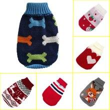 Разноцветный вязаный свитер для собак, кошек, зимняя теплая одежда для собак, одежда для маленьких собак, щенков, чихуаху, французский бульдог, мопс, пальто 25