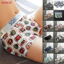 Sexy underwear cueca boxer Men 2019  Shorts plus size Mens Clothing soft boxers panties shorts print mens string