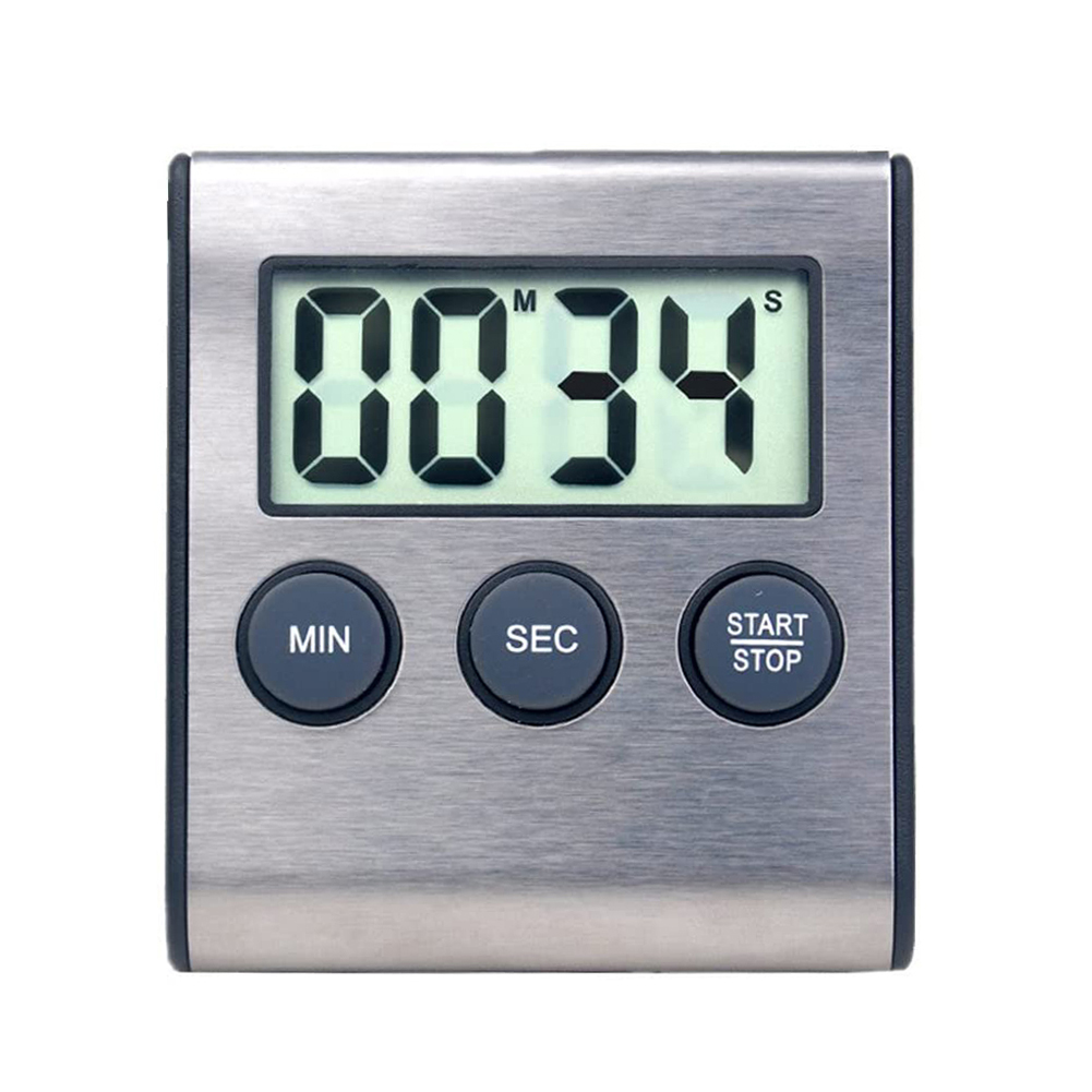 Home Multifunctional LCD Digital Screen Kitchen Countdown Timer Stopwatch Cooking Baking Alarm Reminder Magnet Clock with Stand