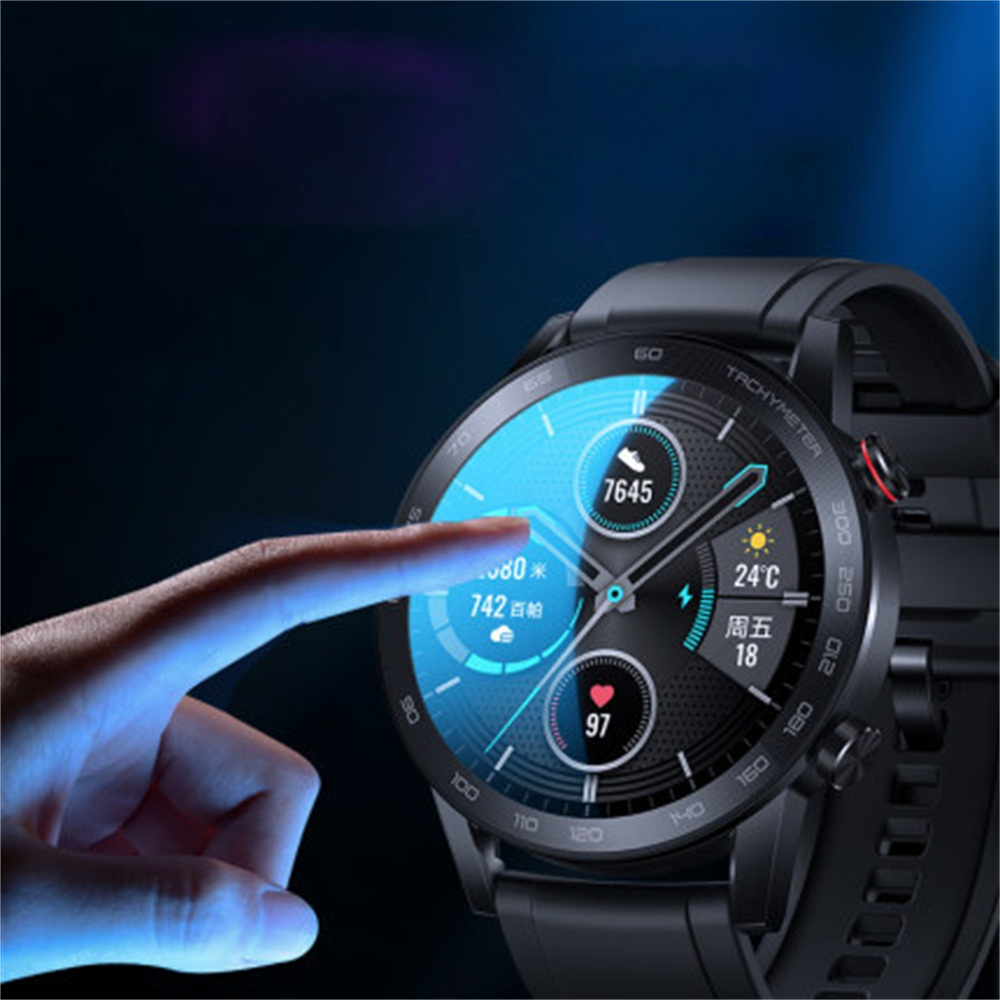 3D Curved Edge Tempered Glass Protective Film HD Screen Protector for Honor Magic Watch 2 46mm Smart Watch Accessories 6
