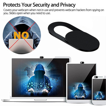 top selling in 3PCS Webcam Cover Web Camera Privacy Blocker Computer Phone Ultra-Thin Black Support Wholesale and Dropshipping image
