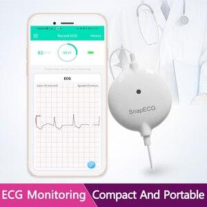 Image 1 - 휴대용 미니 웨어러블 ECG 모니터 측정 기계 안드로이드 또는 IOS 건강 관리를위한 실시간 심장 지원 전극 홀터