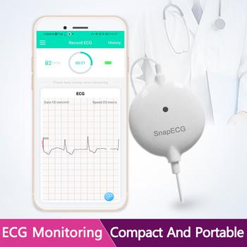 Przenośny Mini poręczny Monitor ekg maszyna pomiarowa w czasie rzeczywistym wsparcie serca elektrody Holter dla androida lub IOS opieki zdrowotnej tanie i dobre opinie komwell CHINA KU08 Elektroniczne urządzenie do pomiaru tętna Android 4 0 and above and IOS