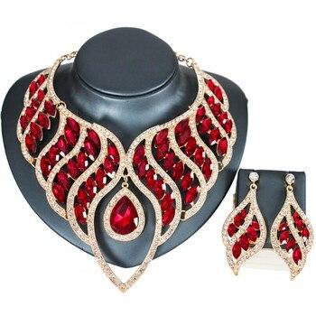 Luxury Waterdrop Crystal Jewelry Set 6