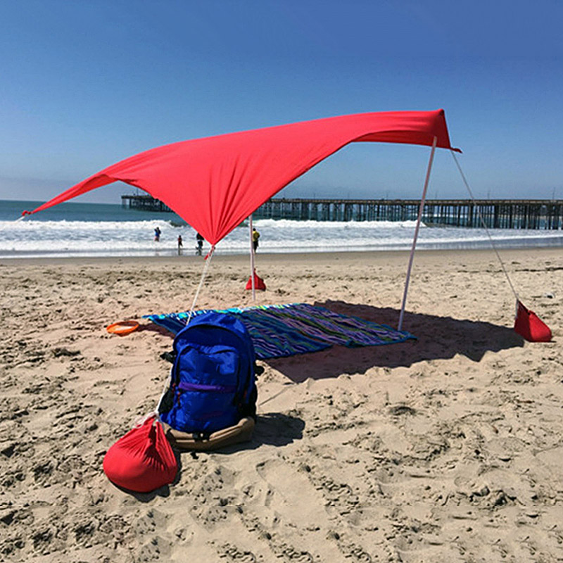 Beach Awning Tent Sun Protection Beach Tent Sunshade Ultraviolet Protection Outdoor Camping Fishing In Stock
