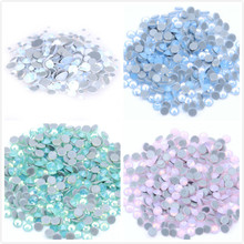 All Sizes Blue/Green/White/Pink Opal Crystal Nail Art Rhinestone decorations 3D Flatback Glass HotFix Rhinestones for Garment