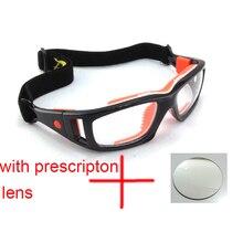 Stgrt Gafas de baloncesto con lente graduada gafas para fútbol, precio incluye lentes para miopía, gafas deportivas antiniebla para hombre