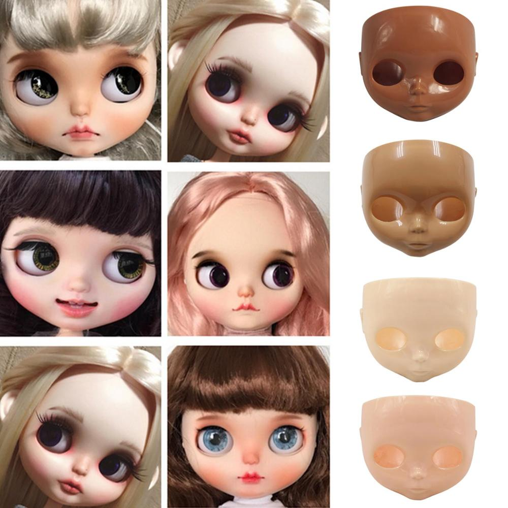Besegad 1:6 Fashion Doll Faceplate + Backplate Head + Screws For Blyth Doll DIY Changing Face Accessories