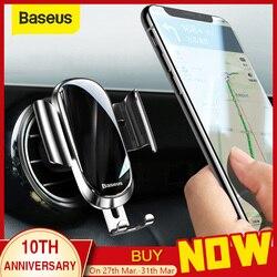 Baseus suporte do carro para o telefone 360 graus de ventilação ar montar suporte do telefone do carro para o iphone 11 samsung gravidade titular do telefone móvel