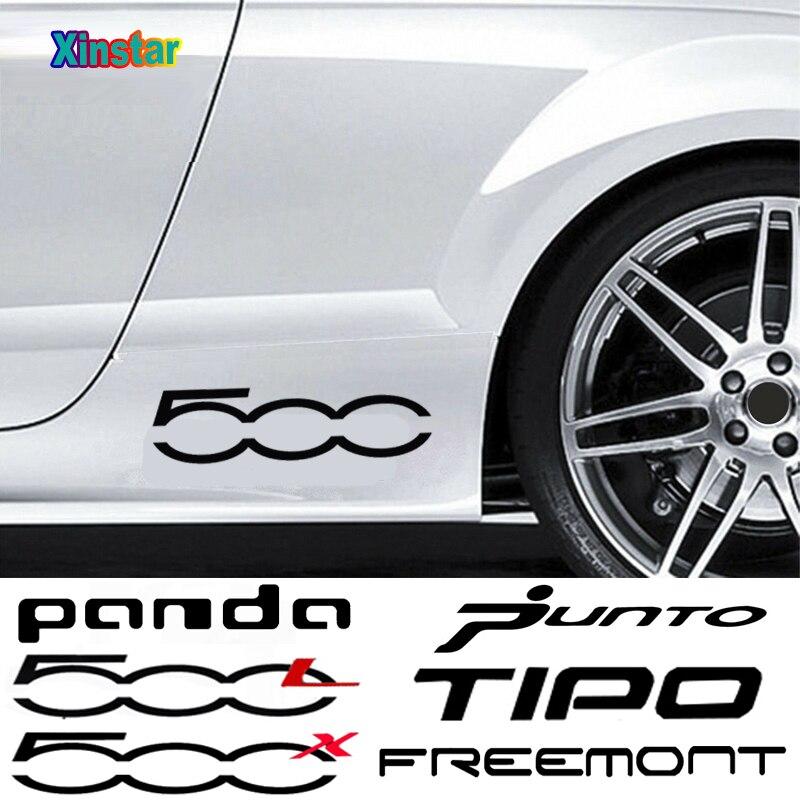 Наклейка на боковой кузов автомобиля Fiat 500L 500 500x Panda TIPO Punto, 2 шт., аксессуары для украшения автомобиля