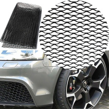 купить Aluminum alloy Car front bumper Mesh grill grille cover Universal Aluminum Mesh Grill Section Car Vehicle Black body Grille Net в интернет-магазине