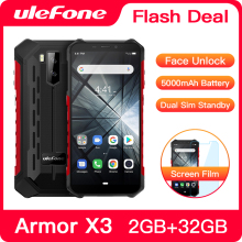 "Ulefone Armor X3 прочный смартфон Android 9,0 IP68 Android 5,"" 2 ГБ 32 ГБ 5000 мАч 3g прочный мобильный телефон Android"