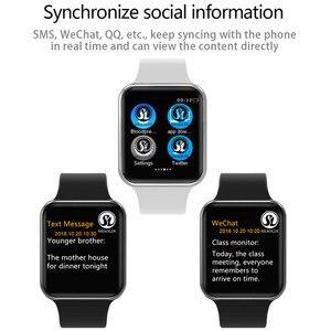 Image 5 - Bluetooth חכם שעון לביש התקני סנכרון Notifier תמיכה Whatsapp עבור Apple Ios Iphone אנדרואיד טלפון Smartwatch (כפתור אדום)