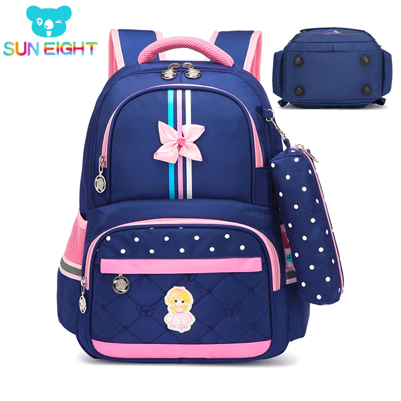 Hot 1-3 Grade Girls School Bag School Bags For Girls Children Backpacks Girl School Backpack Kids Bag Cross Bow Mochila Infantil