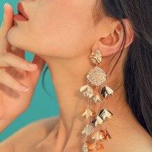 Brincos Rushed Earings Brinco Tassel Earrings Sale Oorbellen Metal For Women 2019 New Fashion Long Flowers Jewelry Accessories