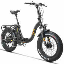 20inch snow e bike 48V500w electric bicycle 4 0 fat tires fold electric mountain bike 624wh