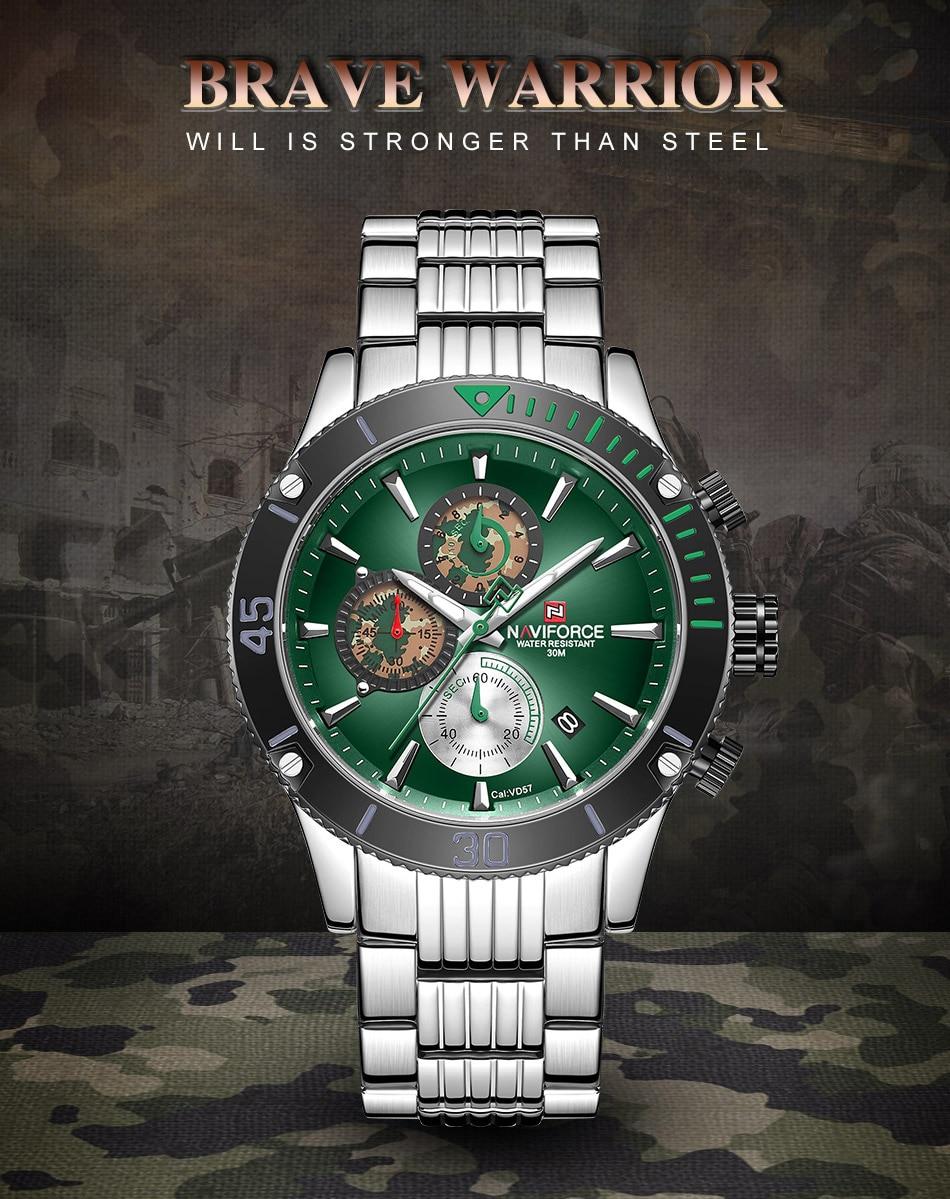 H544a112b5d1643e9957c53305d8e9eff6 NAVIFORCE Men Watch Chronograph Military