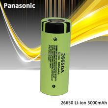 100% original panasonic 26650a 3.7v 5000mah de alta capacidade 26650 baterias recarregáveis do li-íon