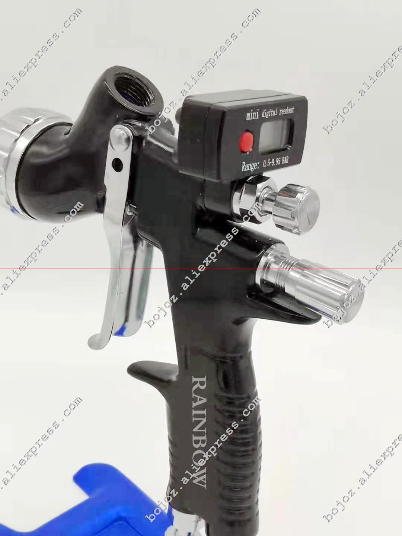 Air pneumatic gun GTI pro lite painting gun TE20 T110 1 3 nozzle air spray gun water based with Mini digital Air regulator Gauge
