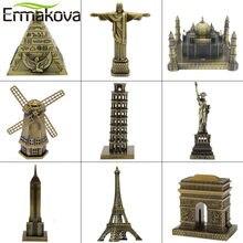 Ermakova arquitetura de metal estatueta mundialmente famoso marco edifício lembrança estátua escritório em casa decoração do desktop presente natal