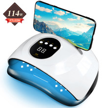 114W UV Led Nail Lamp Nail Dryer Curing Manicure Gel Light With 4 Timers Auto Sensor Portable Machine For Fingernail and Toenail