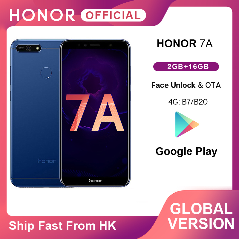 En Stock Honor 7A versión Global Smartphone Google Play 2GB 16GB Snapdragon 430 Octa Core 5,7 pulgadas frente 8.0MP trasero 13.0MP Vidrio templado para Huawei honor 10 lite 2019 protector de pantalla para honor 10 lite 2019 película de vidrio