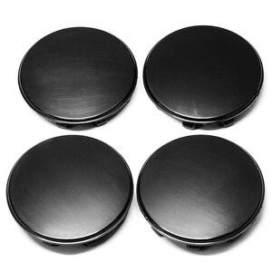 Image 5 - Tapacubos de rueda para coche KIA Sportage Sorento Rio K5 Optima para Hyundai, negro, 58mm/53mm/50mm, ajuste de 56mm, 4 Uds.
