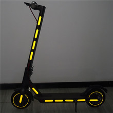 For Xiaomi M365 Scooter Reflective Sticker Reflect Light Tags Paster Decals Night Safety Warning Strips KT01