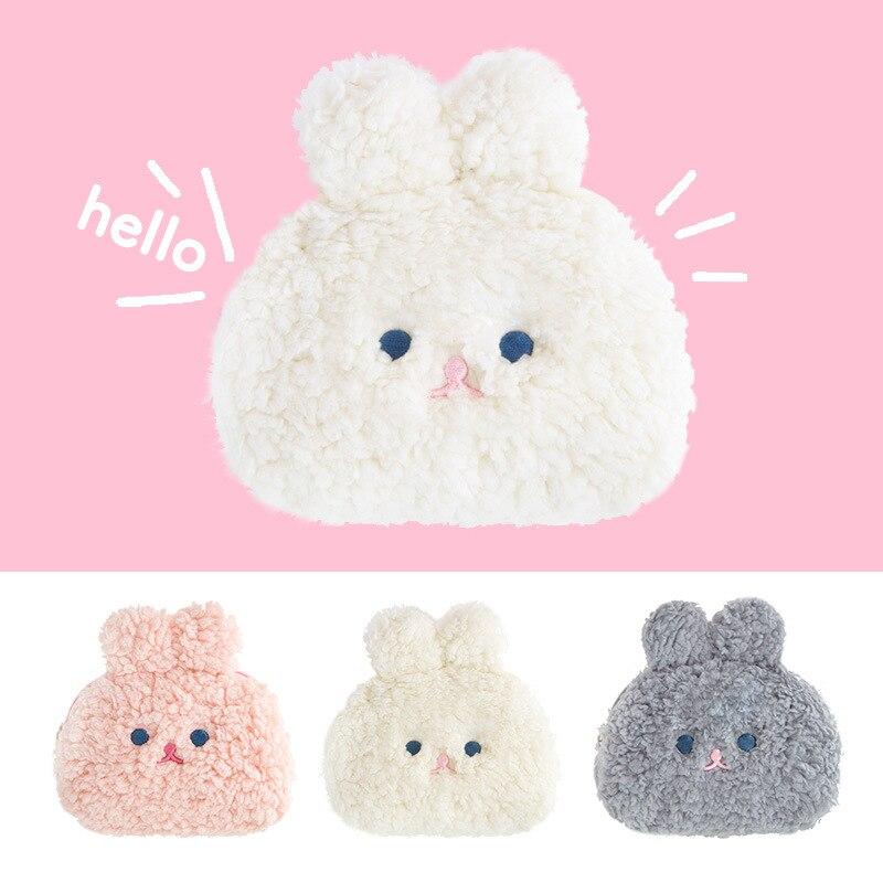 Bentoy Milkjoy Cute Rabbit Berber Fleece Plush Coin Purse Fur Makeup Bags Lovely Girl Money Card Holder Wallet Clutch