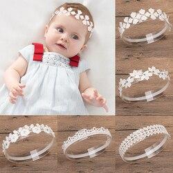 1 Pcs Bebé Headband Headwear Hairband Infantil Presente Das Crianças Das Crianças Da Criança Recém-nascidos Flor Floral Rendas coroa de cristal Folha