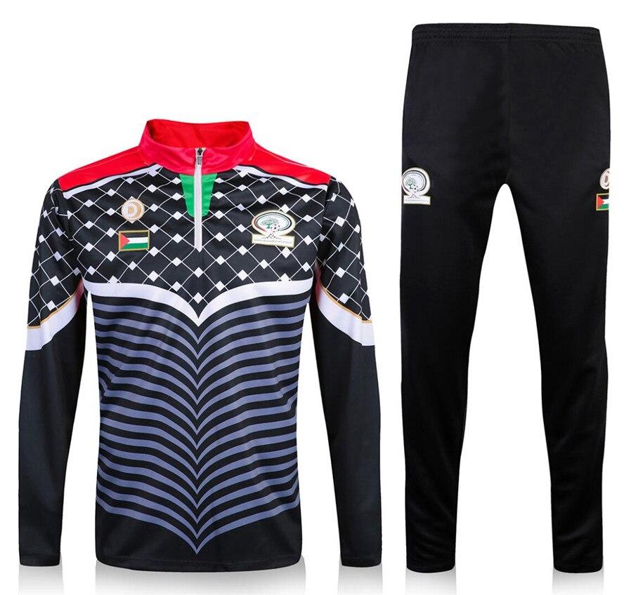 Спортивный костюм национальной сборной Палестины, куртка, тренировочный костюм, штаны, футбольная одежда, спортивная одежда, мужской свите...