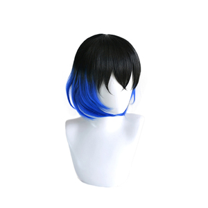 Image 3 - Anime Demon Slayer Kimetsu no Yaiba Hashibira Inosuke Short Wig Cosplay Costume Heat Resistant Synthetic Hair Men Women Wigs