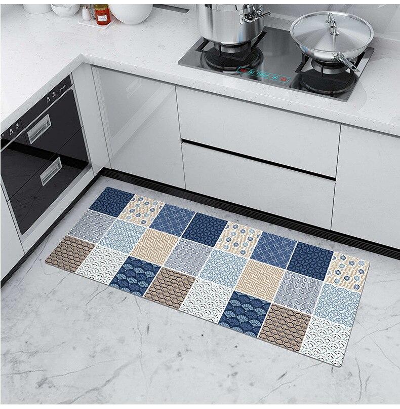 Pvc Kitchen Floor Mat Plaid Rugs