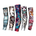 Перчатки Бесшовные для мужчин и женщин, длинные летние защитные перчатки с татуировкой, защита от солнца, для вождения, из вискозы, 1 шт.
