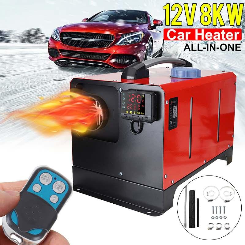 Chauffage de voiture 12 V/24 V 8KW Tout en Un Chauffage Diesel Chauffe-Air Trou Nouveau Moniteur LCD Stationnement Réchauffeur Rapide De La Chaleur Pour Bus De Camion