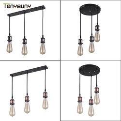 Retro Industrial Loft LED Bar Pendent Lamp E27 Socket Pendant lights Aluminum Dining Room Pendent Lights Kitchen Hanging Lamps