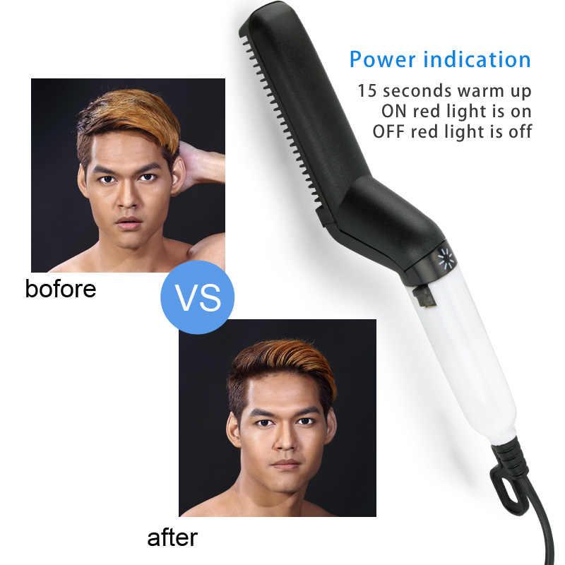 Escova barba alisador de cabelo endireitar pente modelador de cabelo rápido modelador de cabelo multifuncional pente