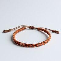 Eastisan тибетский буддийский Плетеный вручную Узелок благословенная счастливая веревка браслет для мужчин и женщин тонкий браслет оригиналь...