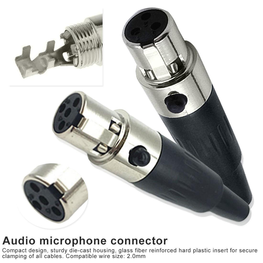Micrófono-enchufe 4 pin para soldar a cables del micrófono