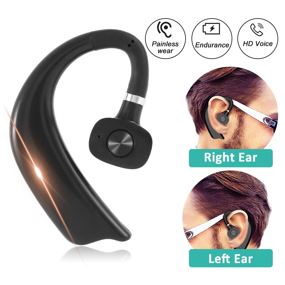 Wireless Headphones Bluetooth 5.0 Business Hands Free <font><b>Earphone</b></font> <font><b>Noise</b></font> <font><b>Cancel</b></font> Stereo Music Sport Ear-hook Headset For Car image