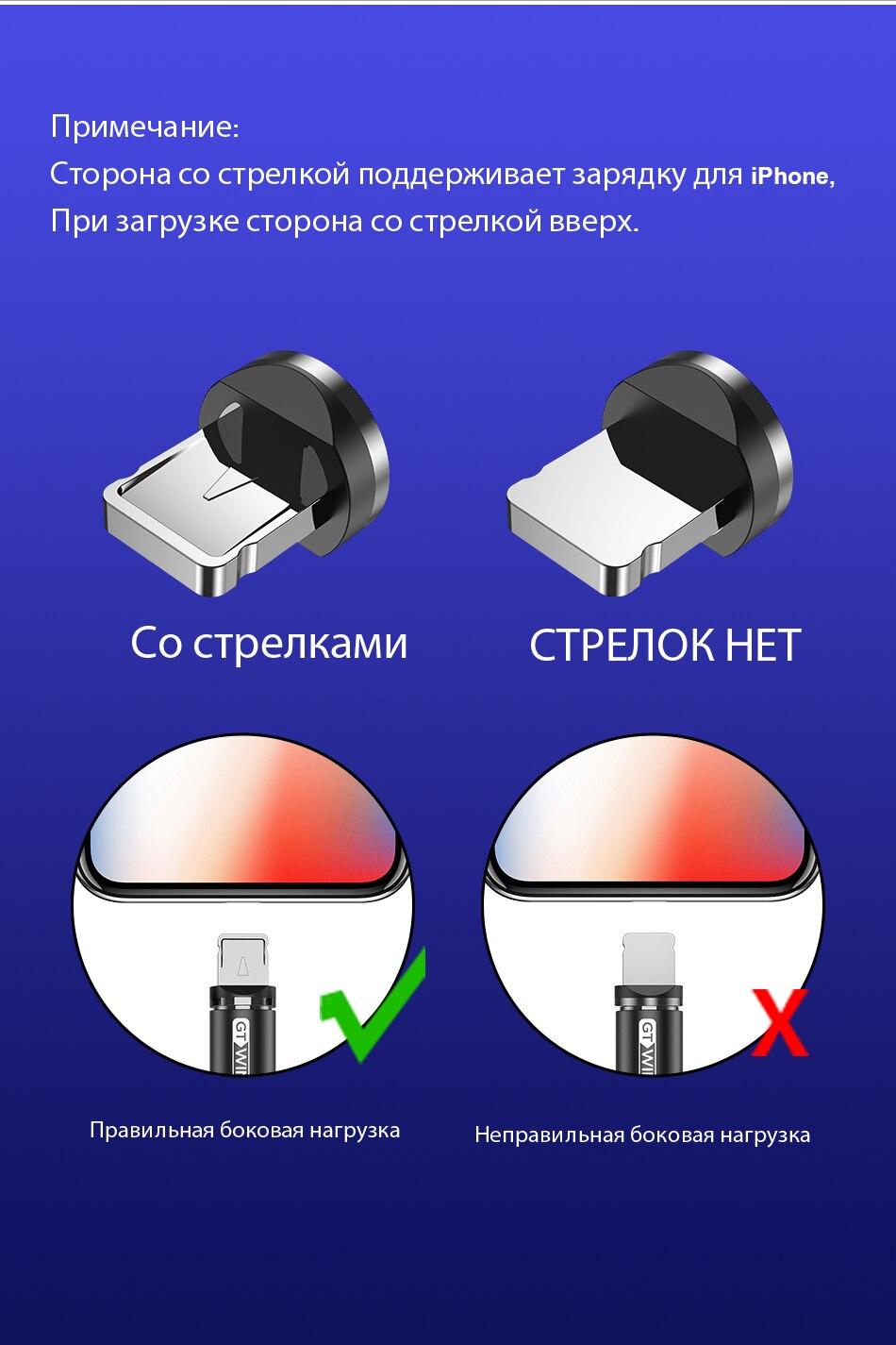 GTWIN 2м 3м Магнитный Micro Type C USB-кабель Адаптер для быстрой зарядки Зарядное устройство Магнитная зарядка для iPhone 11 pro max Xr X 8 7 6 плюс 6 s 5 s плюс iPad Samsung S9 S8 Note 7 mi Xiaomi Huawei P30 P20 Mate