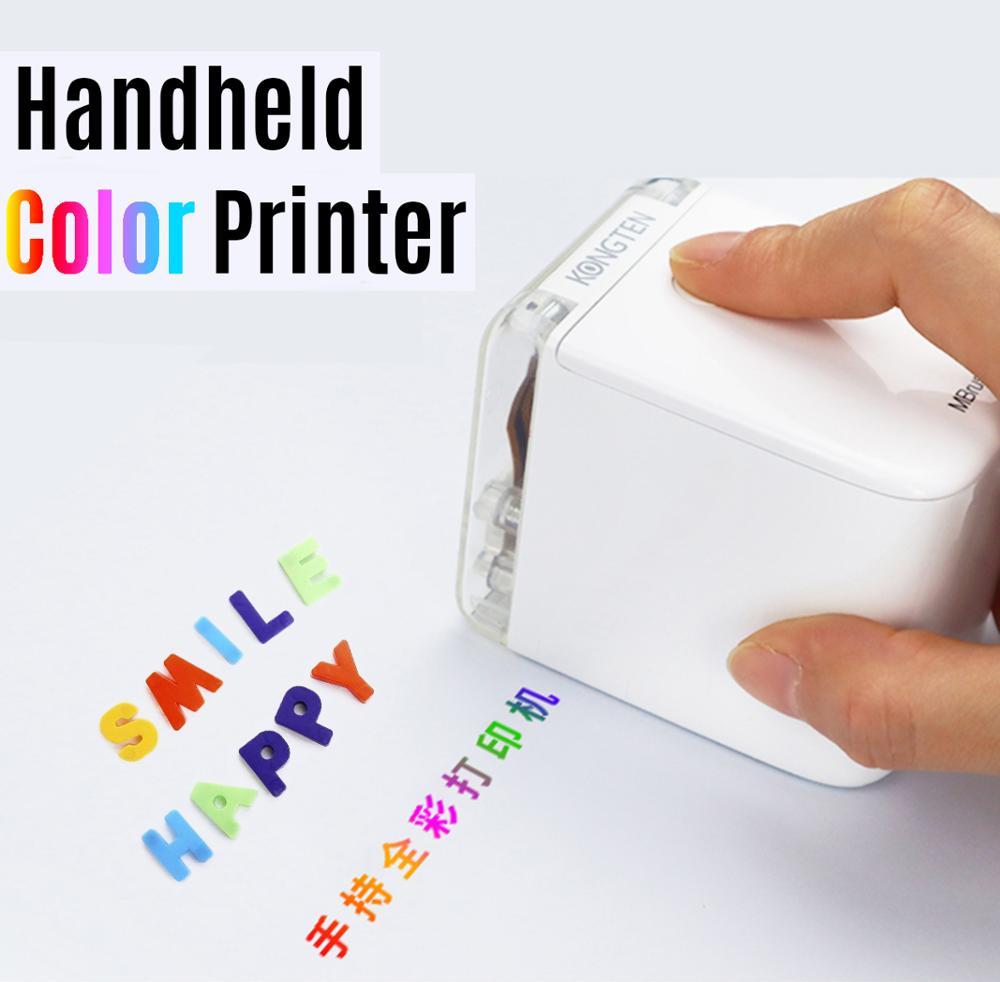 Mbrush impressora portátil mini impressora a jato de tinta impressora de código de barras a cores 1200dpi com cartucho de tinta app para texto personalizado