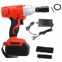Rechargeable Electric Cordless Impact Wrench With LED Light Charger Durable DC Adaption Activated New Arrival